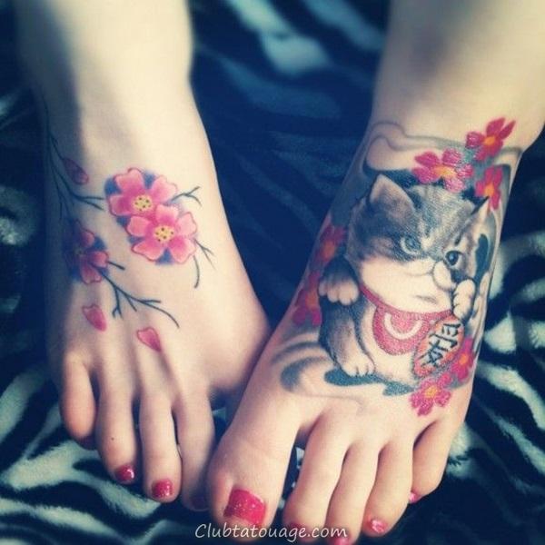 Attractive 40 pieds Tattoo Idées 23 Ideas tatouage -Pied