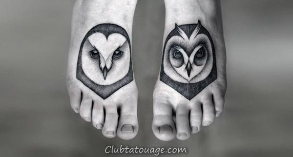 Attractive 40 pieds Idées de tatouage 24