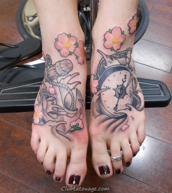 Attractive 40 pieds tatouage Idées 38