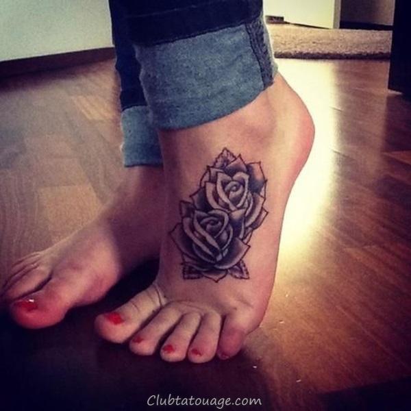 Attractive 40 pieds Idées de tatouage 4