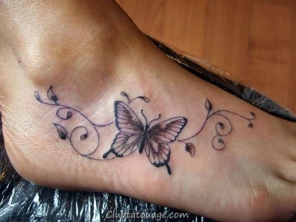 Attractive 40 pieds les idées de tatouage 5