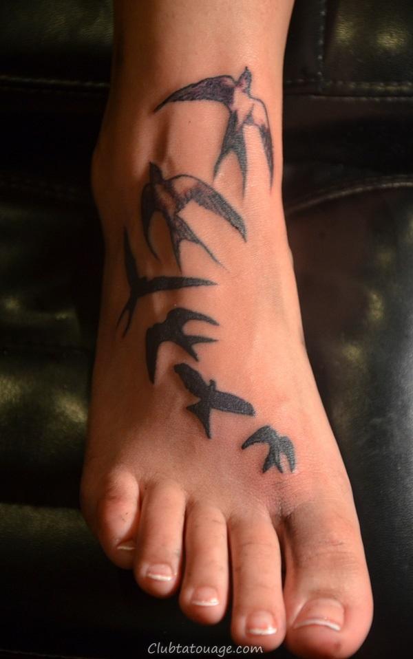 Attractive 40 pieds Idées de tatouage 8