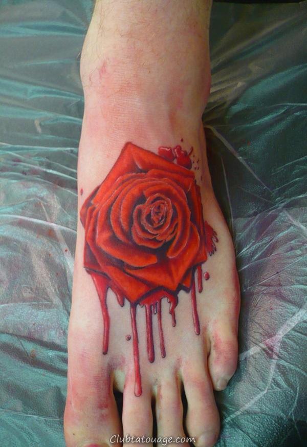 Attractive 40 pieds Idées de tatouage 9