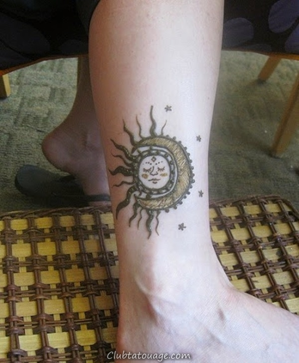 width 40 Attractive Sun Tattoo Design Ideas 13