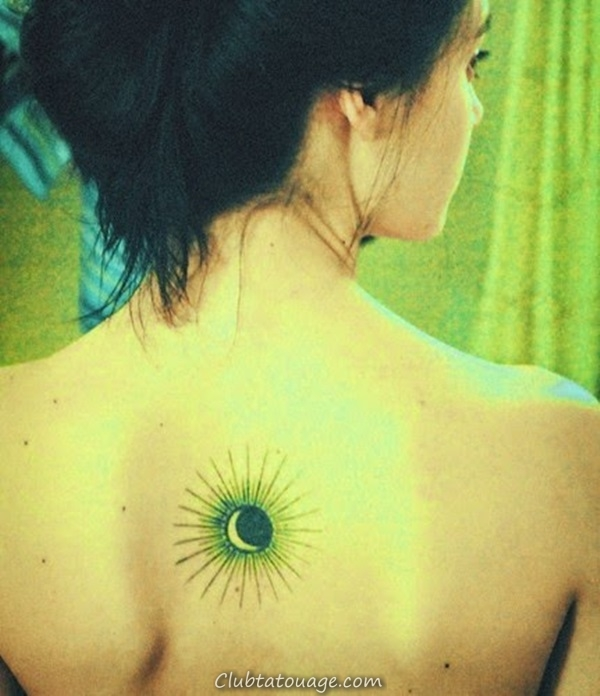 width 40 Attractive Sun Tattoo Design Ideas 15