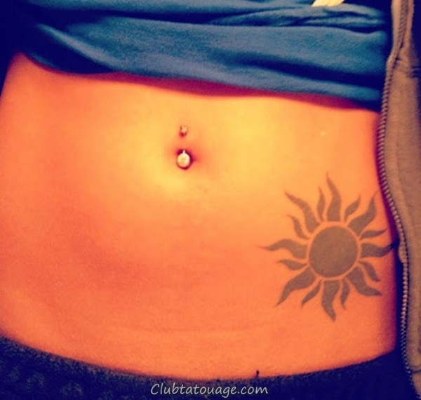 width 40 Attractive Sun Tattoo Design Ideas 22