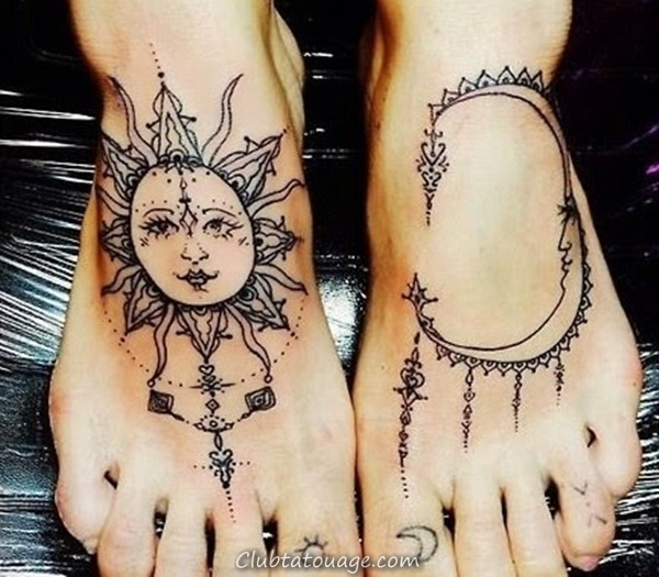 width 40 Attractive Sun Tattoo Design Ideas 30
