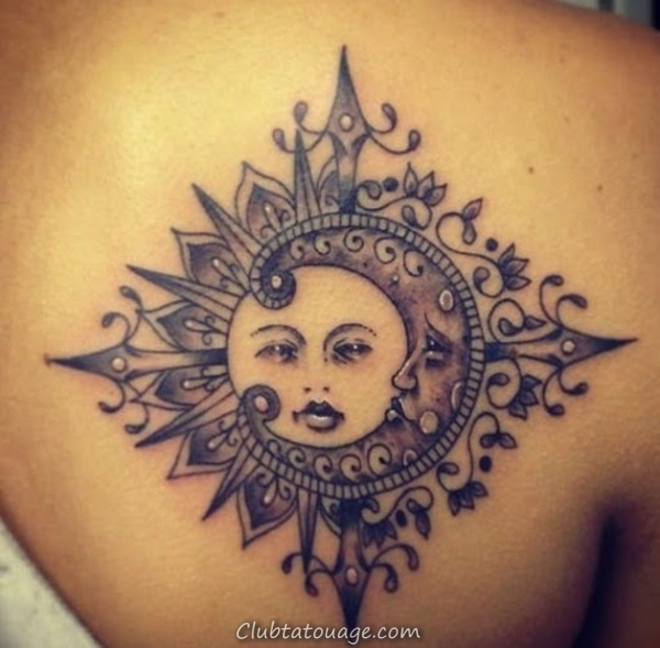 width 40 Attractive Sun Tattoo Design Ideas 31