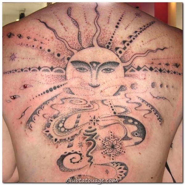 width 40 Attractive Sun Tattoo Design Ideas 37