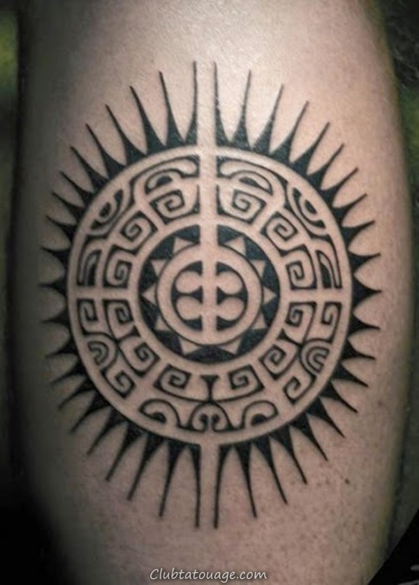 40 Attractive Sun Tattoo Design Ideas 9