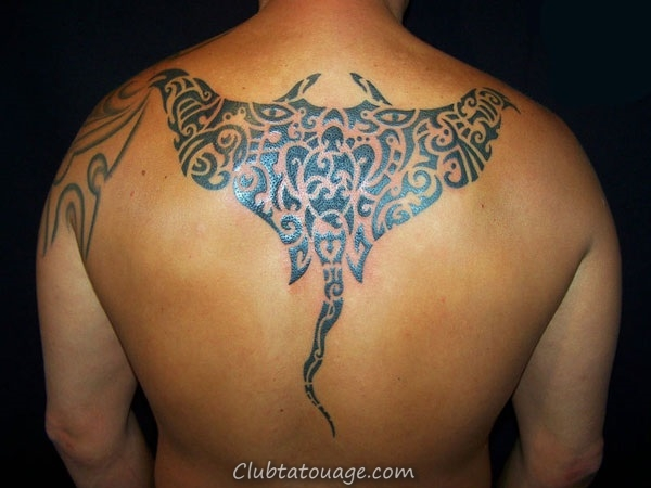 width 40 Belle Stingray Tattoo Ideas 22