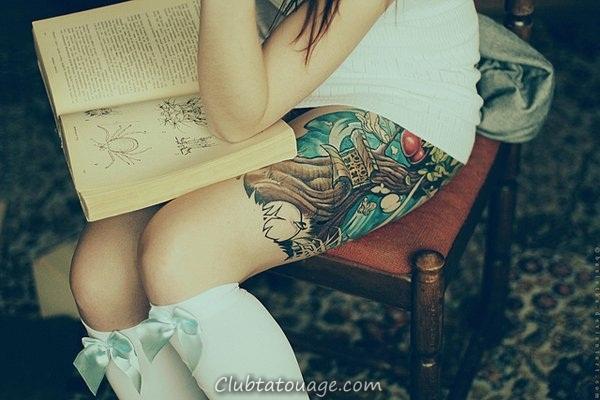 width 40 Belle et attrayante pour les filles Tatouages 40