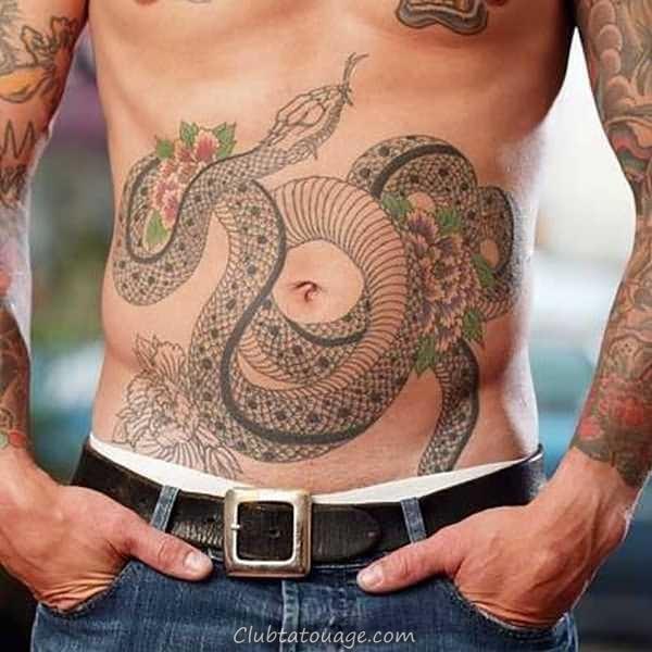 40 Les meilleurs exemples de l'estomac Tattoo