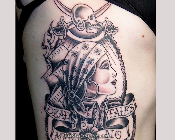 40 Fantastique Pirate Tatouages Designs