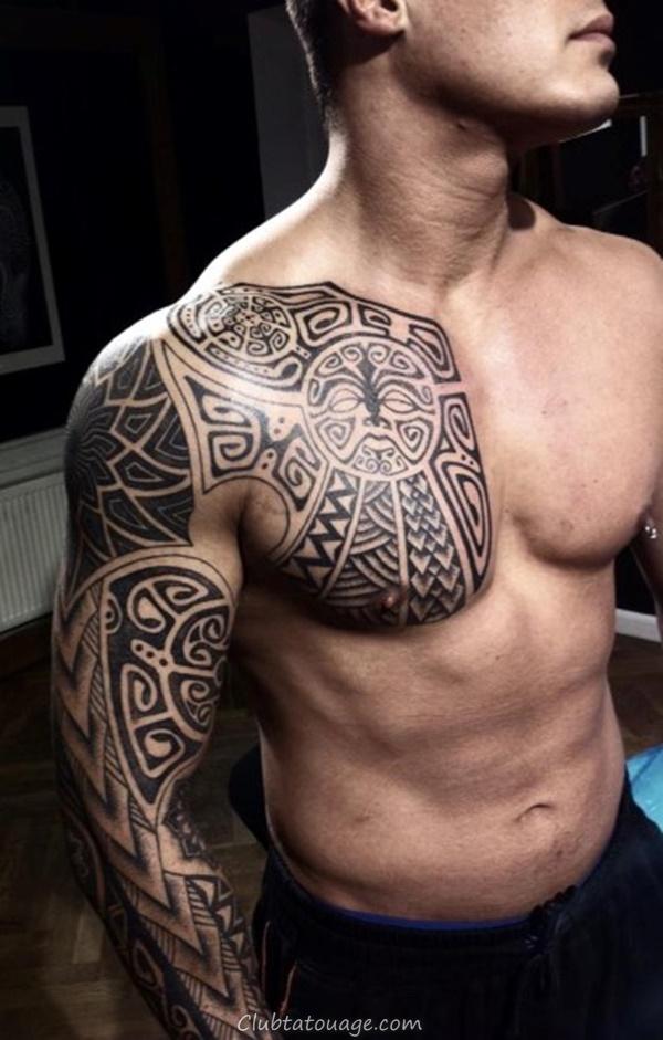 40 Épaule Tatouages pour hommes et femmes 11