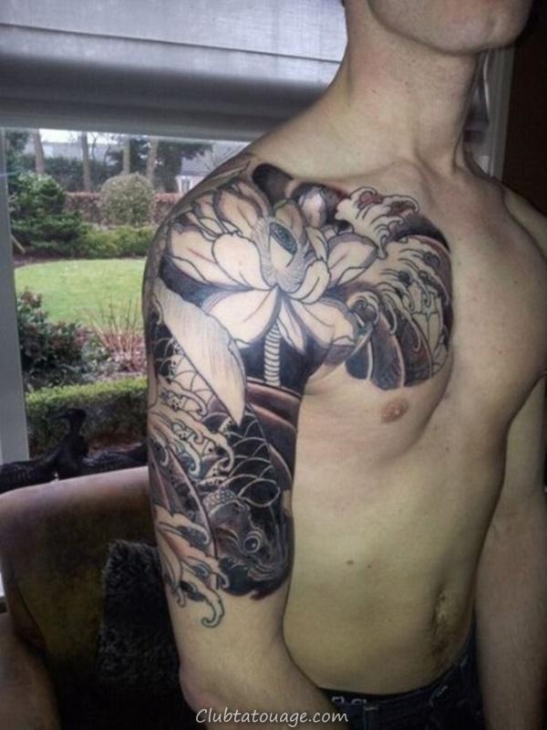 40 Épaule Tatouages pour hommes et femmes 24