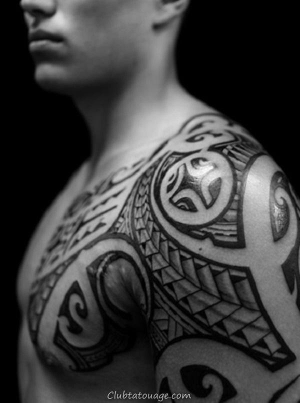 40 Épaule Tatouages pour hommes et femmes 27