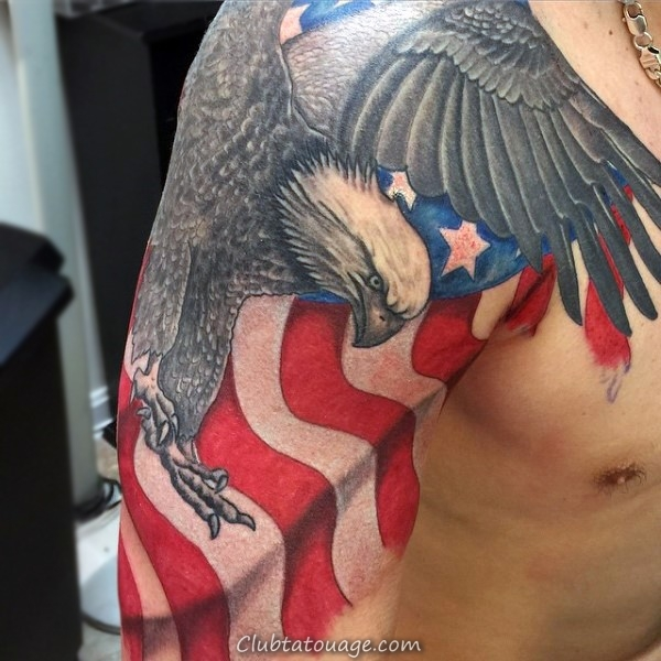 40 spectaculaire Aigle Tattoo Ideas 26