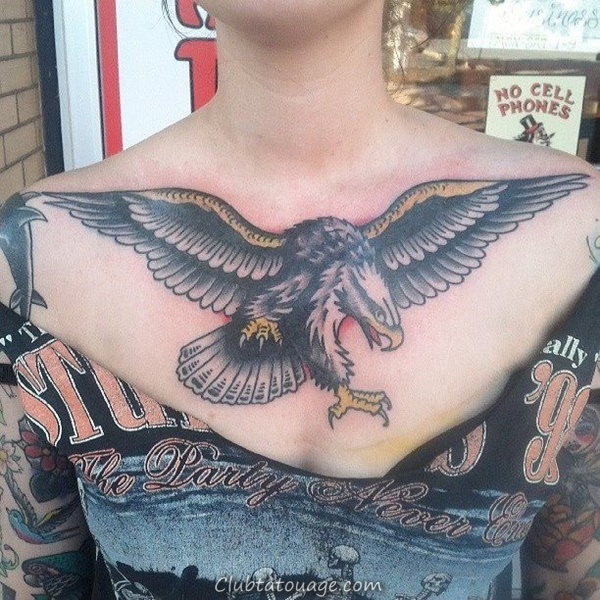 40 spectaculaire Aigle Tattoo Ideas 30