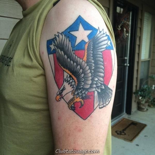 40 spectaculaire Aigle Tattoo Idées 33