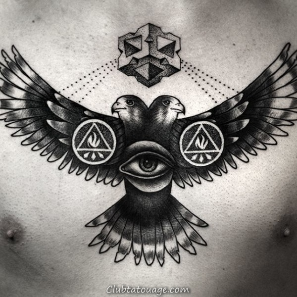 40 spectaculaire Aigle Tattoo Ideas 5