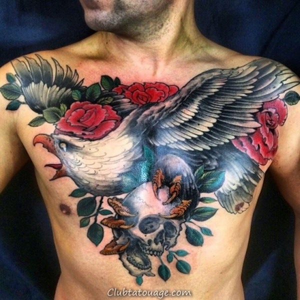 40 spectaculaire Aigle Tattoo Ideas 3