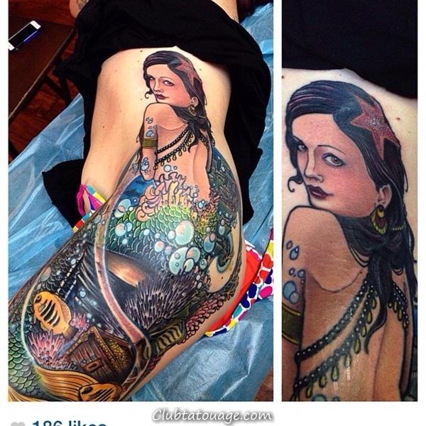 Tattoo 40 élégante Mermaid Designs 15
