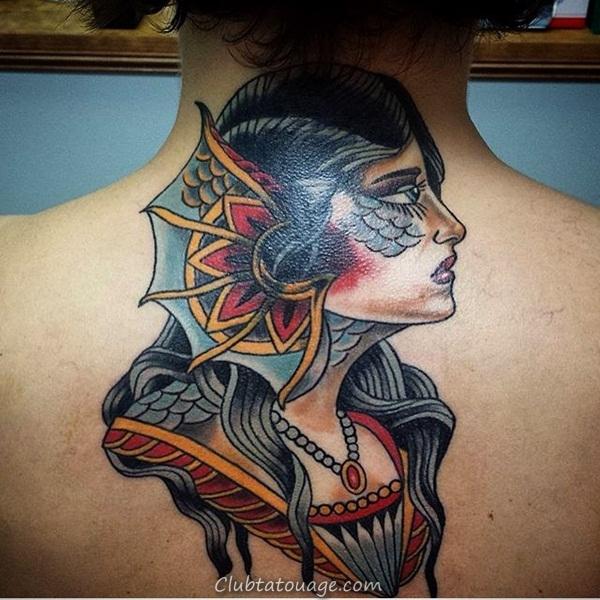 Tattoo 40 élégante Mermaid Designs 21