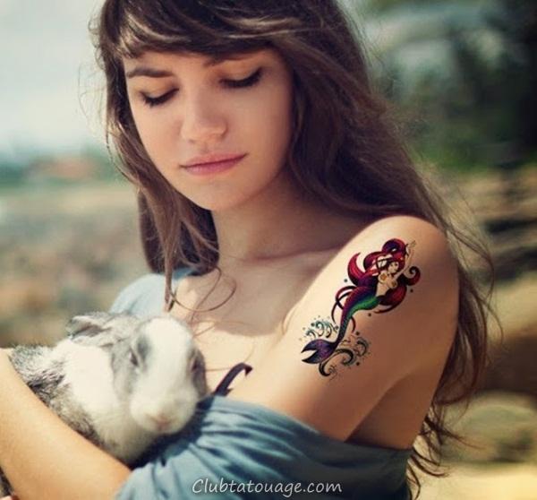 Tattoo 40 élégante Mermaid Designs 29