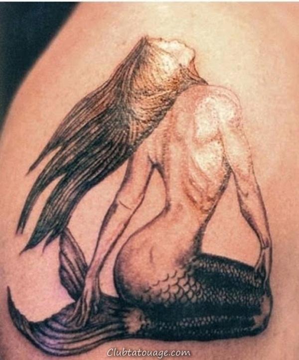 Tattoo 40 élégante Mermaid Designs 34