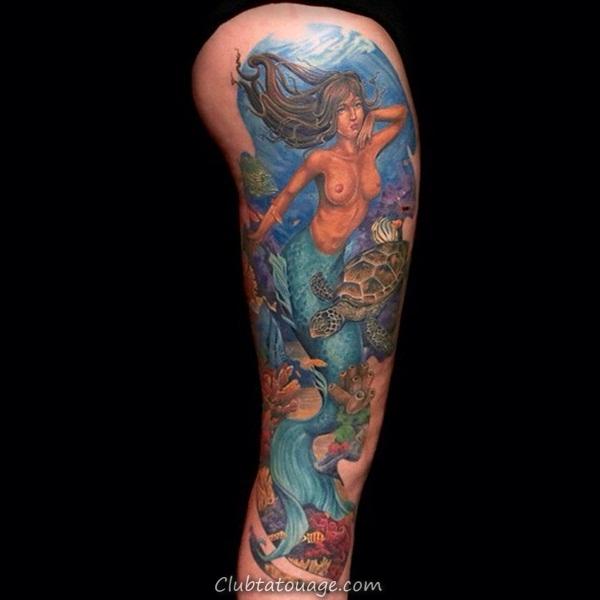 Tattoo 40 élégante Mermaid Designs 4