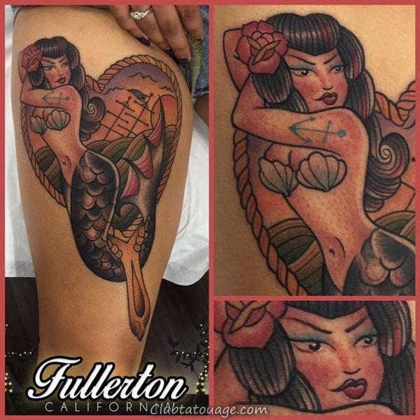 Tattoo 40 élégante Mermaid Designs 5