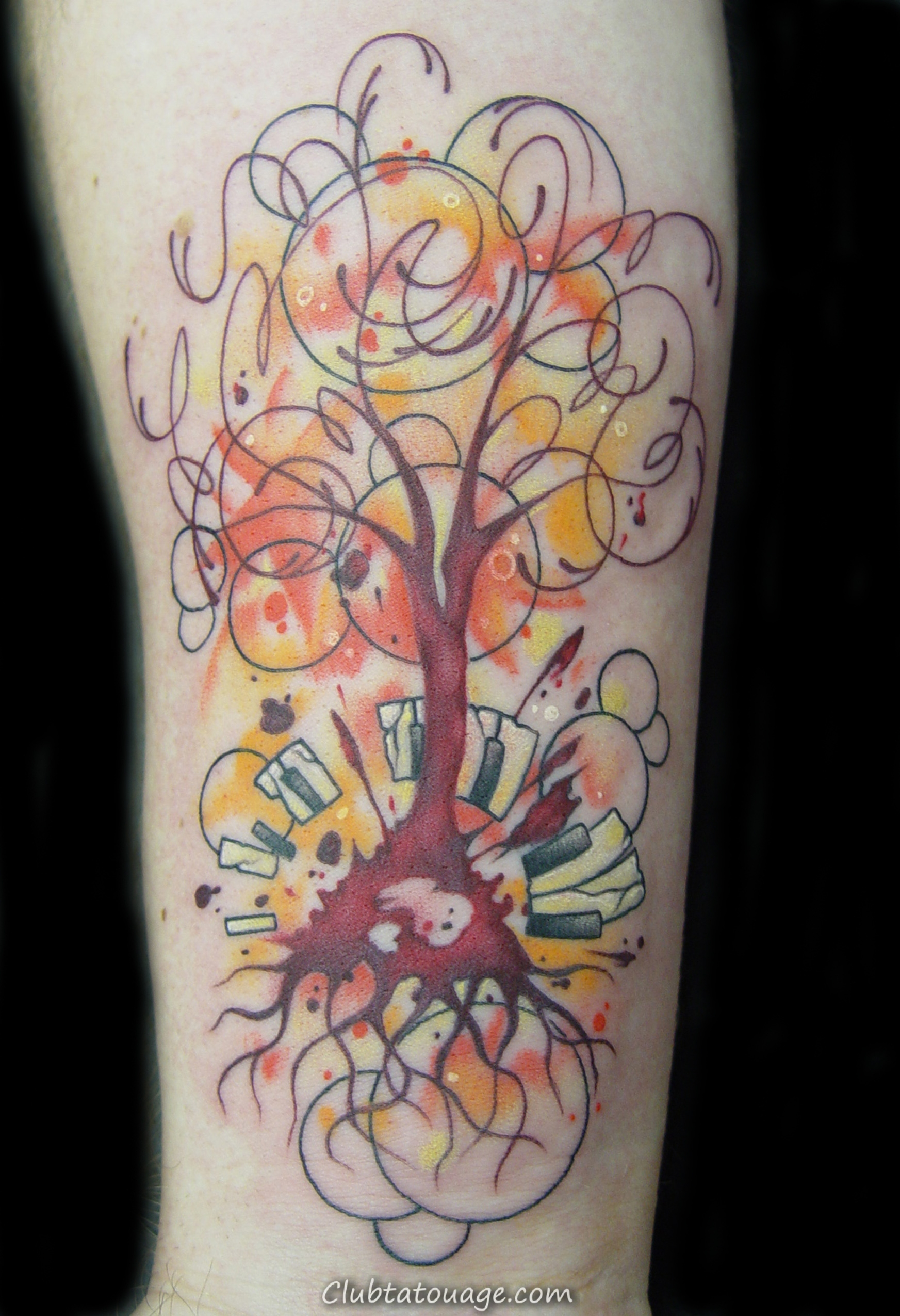 Arbre Abstract Tattoo Designs