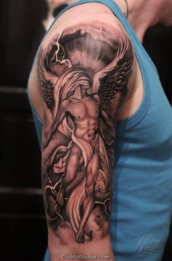 Tatouage Ange Homme Perfect Tatouage Biceps Galerie Tatouage