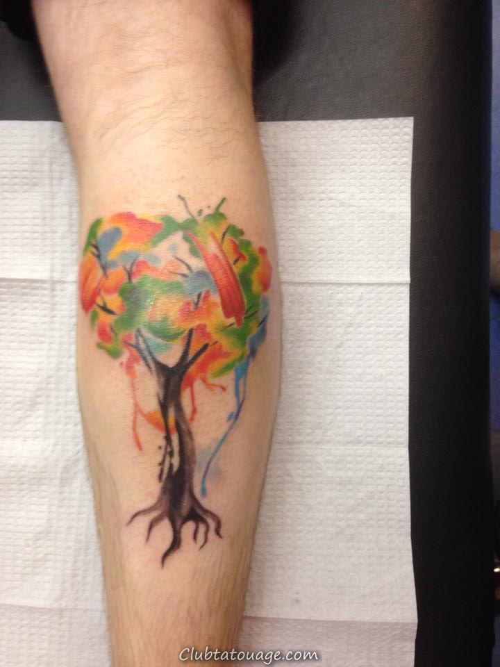Balloon Arbre Tattoo