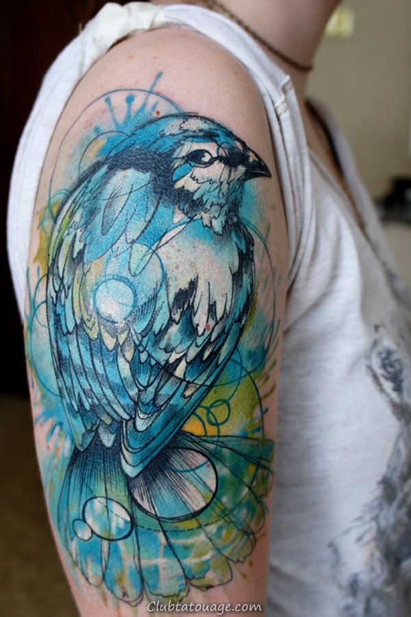 Blue Bird Tattoo Sleeve