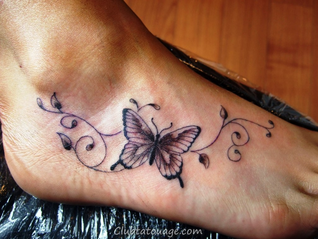 papillon-Tattoos-Designs-sur-Foot
