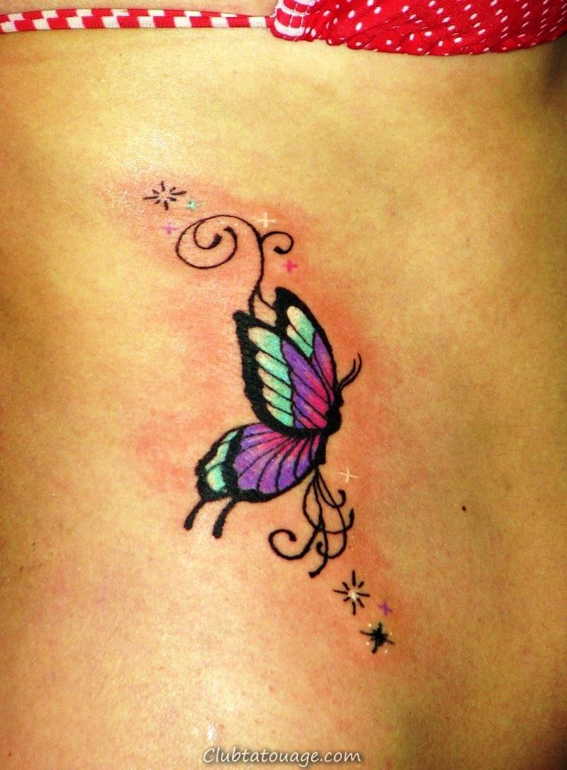 Mignon-petits-papillon-Tattoos