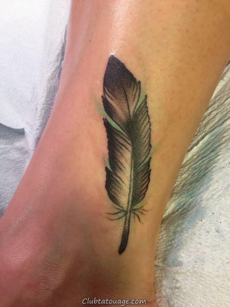 Eagle Tatouages Feather Signification