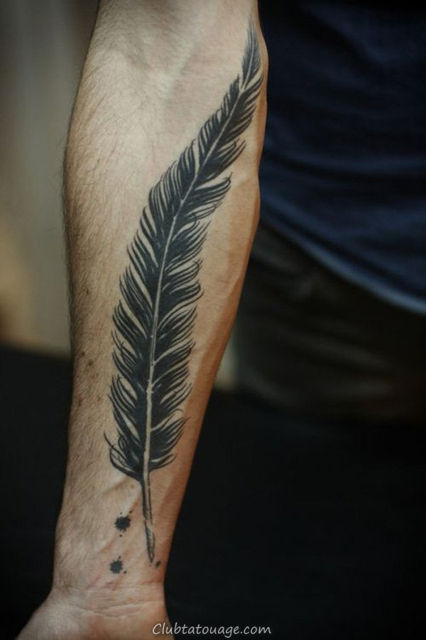 Feather Tattoo Forearm
