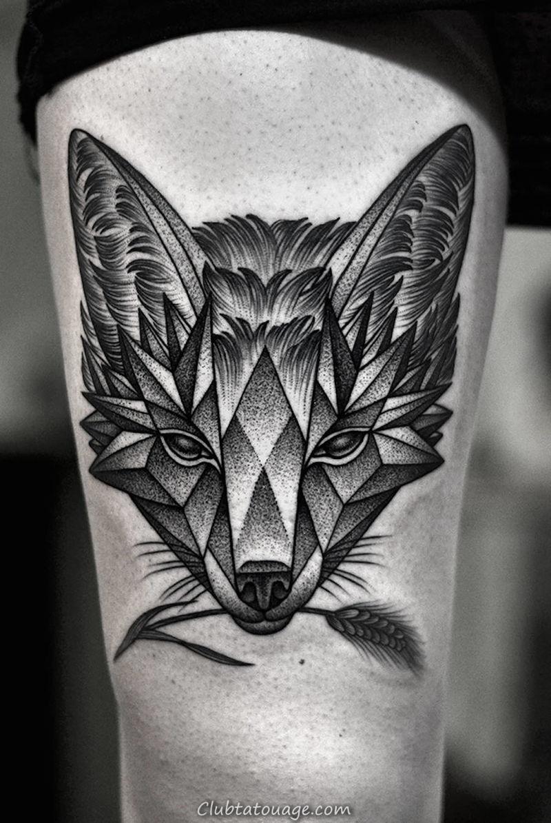 Geometric Tatouage animal