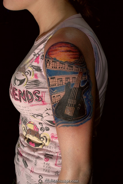 Guitar Music note Tattoo