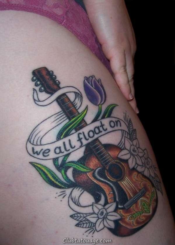 Guitar Tattoo Photos