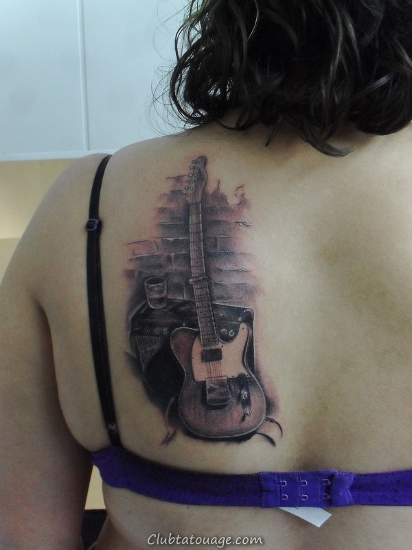 Guitar Tattoos For Girls