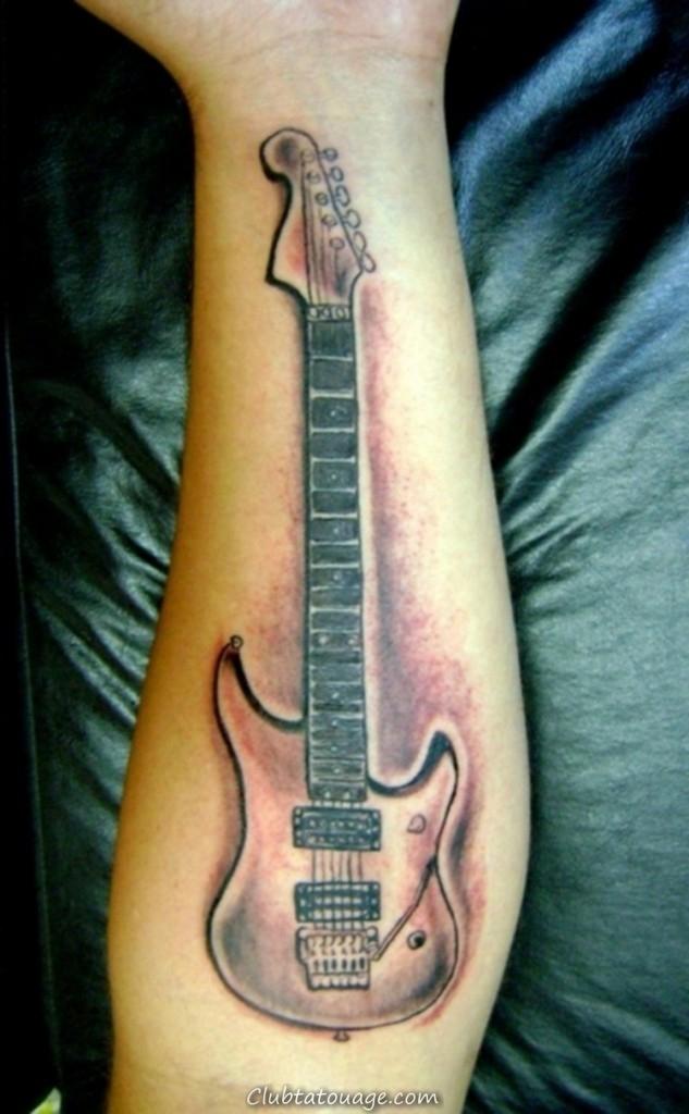Guitar Tattoos For Men