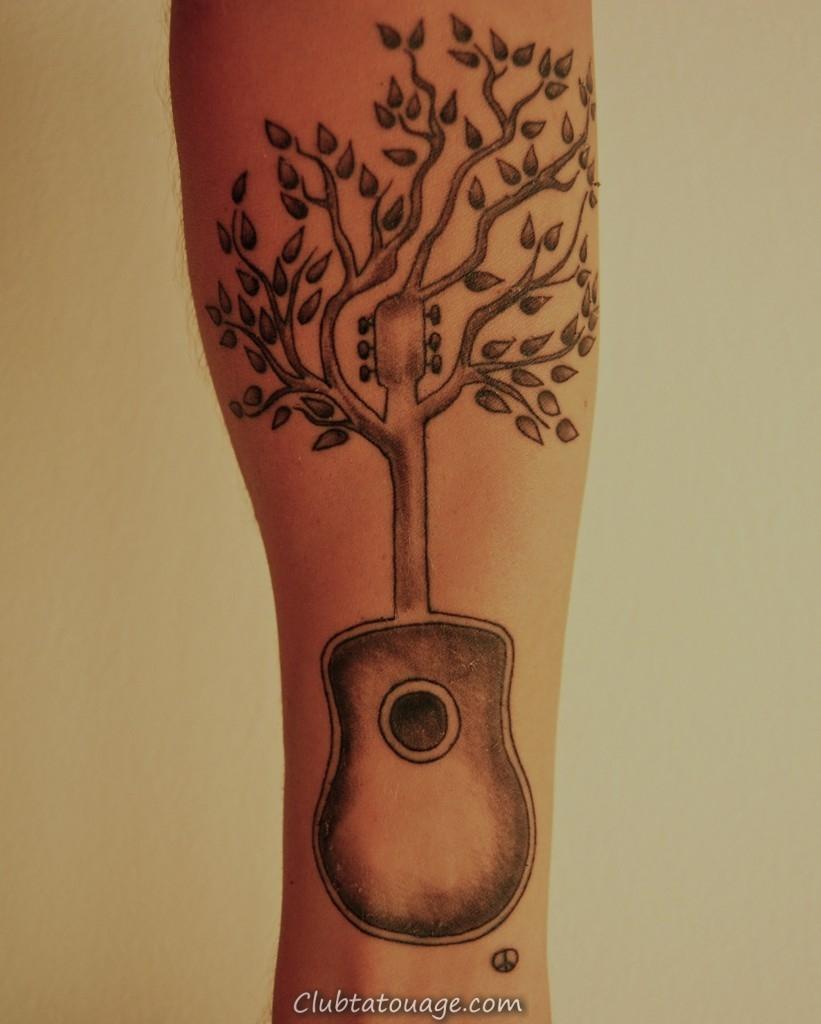 Guitar Arbre Tattoo
