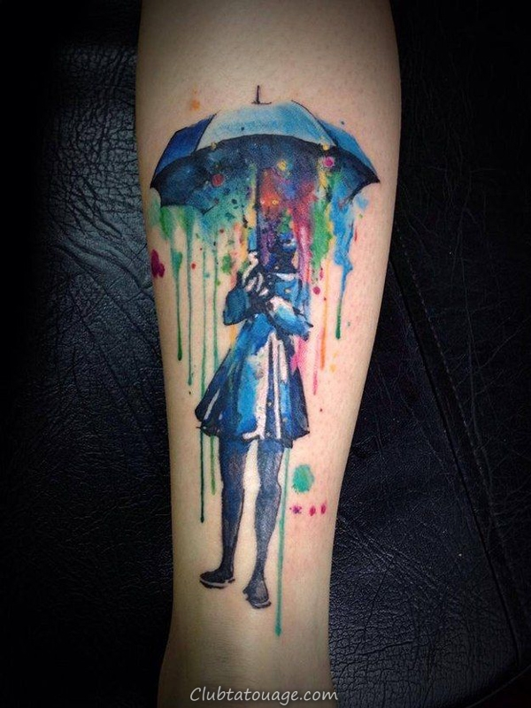 Incroyable Aquarelle Tattoo