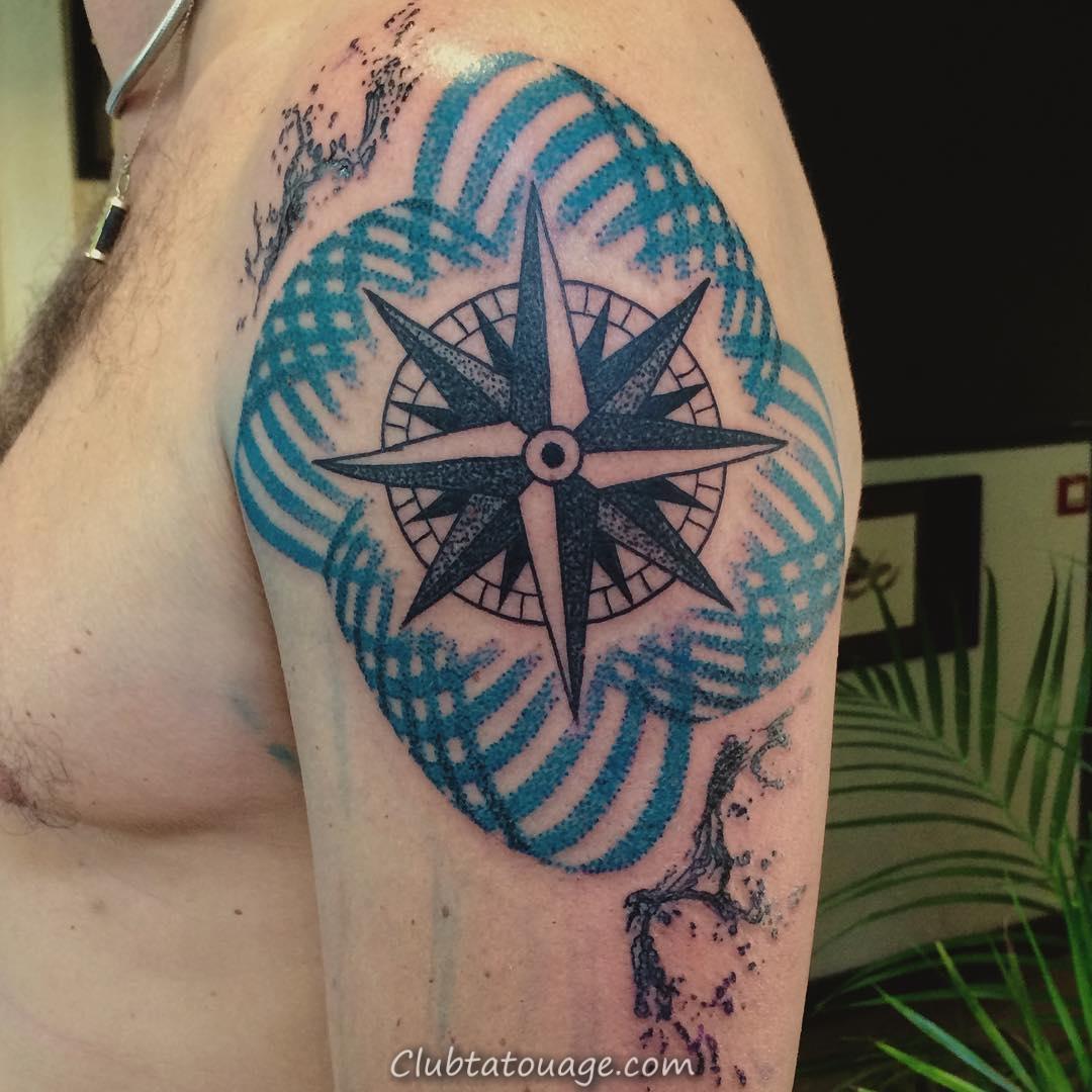 width tatouage étoile nautique