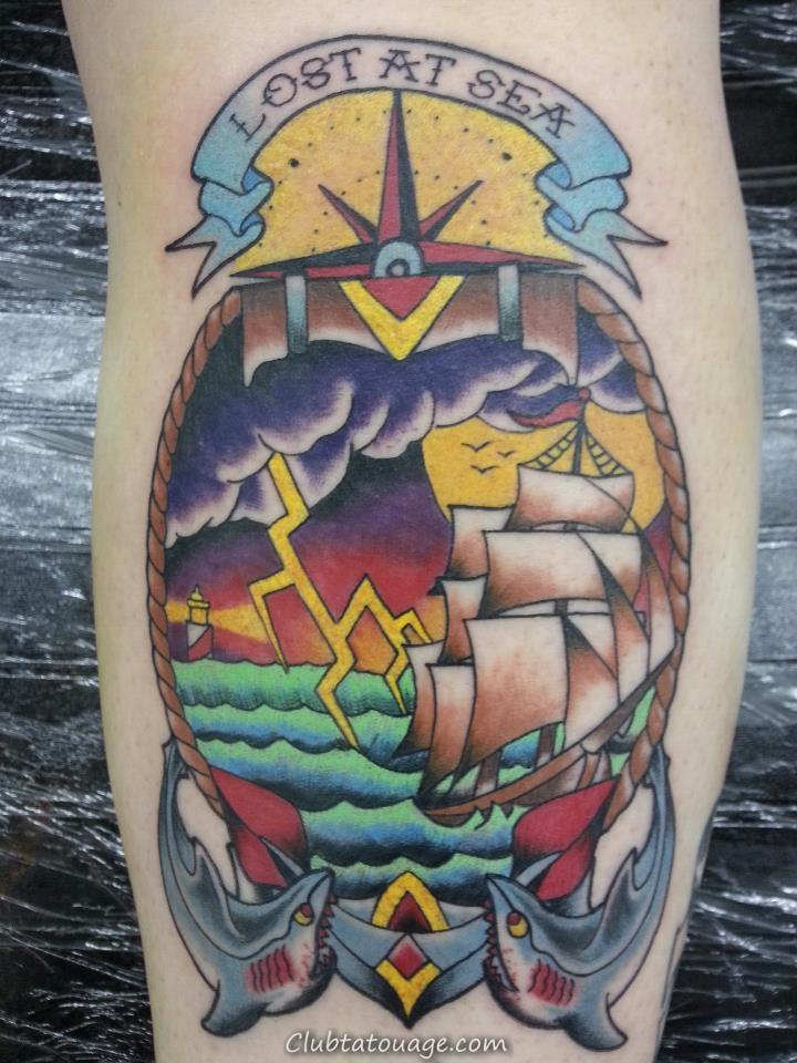 Tattoo nautique Designs.30