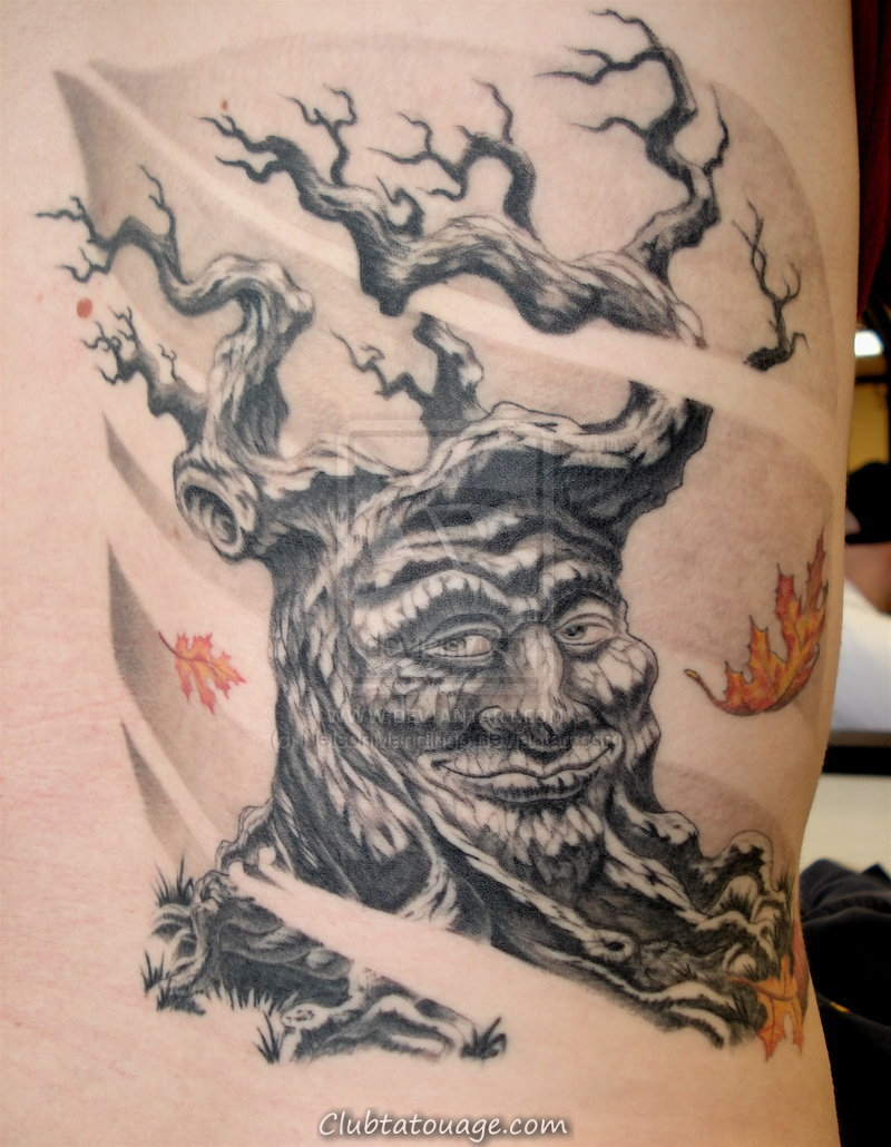 Brilliant Aquarelle Tatouages Arbre